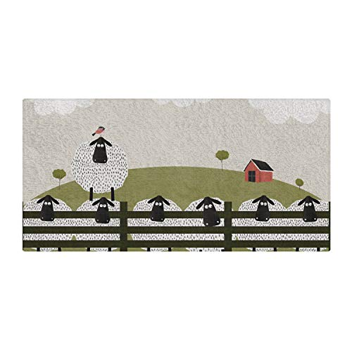 Mouse + Magpie Counting Sheep Farm Animals Bath Towel Premium Quality: Ultra Soft, Cozy and Absorbent, 60x30 for Baby, Toddler & Kids, Use for Bath Time, Beach and Pool, Great Gift by Mouse + Magpie
