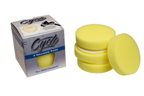 Cyclo (72-135x4-4PK) Yellow Fine Foam Cutting Pad with Loop, (Pack of -