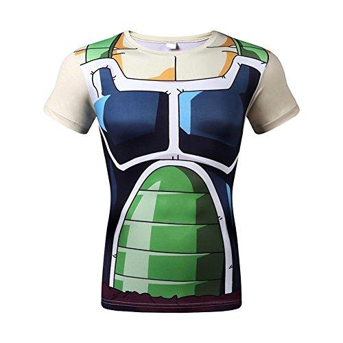 [Goku 3D Shirt Funny Anime Dragon Ball Z Vegeta Costume Sport Fitness Gym T-Shirt M] (Buu Costume)