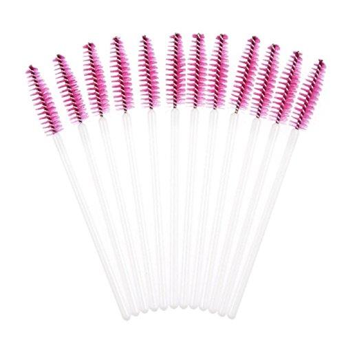 TONSEE 50pcs Disposable Mini Eyelash Eye Lash Makeup Brush Mascara Wands Applicator (Hot - Hot Nakes Women