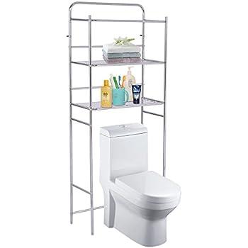 mainstays 3 shelf bathroom space saver chrome finish home improvement. Black Bedroom Furniture Sets. Home Design Ideas