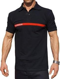 T shirt bleu marinebleu marine sapeurs pompiers courage et polo pompier brod avec bande rouge altavistaventures Choice Image