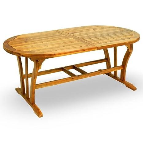 Tavolo Legno Allungabile Da Giardino.Tavolo Da Giardino In Legno Allungabile Da Cm 150 A Cm 200 Amazon
