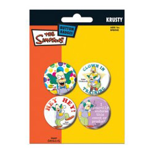 Price comparison product image The Simpsons 4 Badge Pack - Krusty