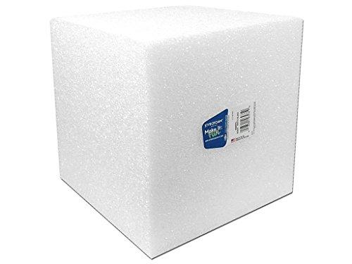 FloraCraft FLOB888WU Styrofoam Cube Bulk 8x8x8 White]()