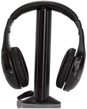 SODIAL(TM) 5-en-1 Hi-Fi Auriculares inalambricos para HDTV, TV ...