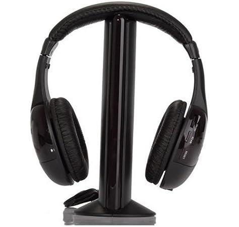 SODIAL(TM) 5-en-1 Hi-Fi Auriculares inalambricos para HDTV, TV, VCD, PC, MP3, MP4, CD, DVD / Radio FM: Amazon.es: Electrónica