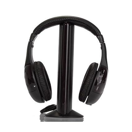 SODIAL(TM) 5-en-1 Hi-Fi Auriculares inalambricos para HDTV