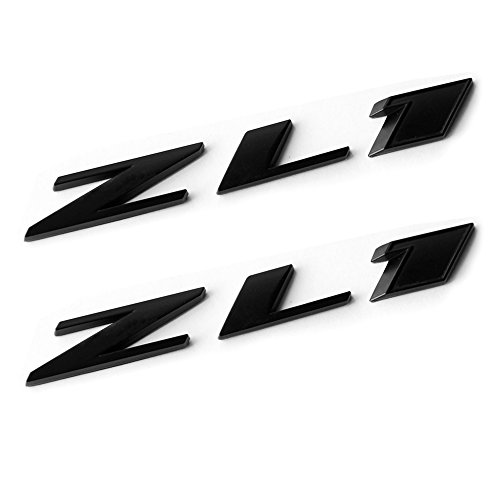 Camaro Rear Emblem - Yoaoo 2x OEM Camaro Zl1 Emblem Badge Letter Rear Side Zl1 Door Genuine Matte Black
