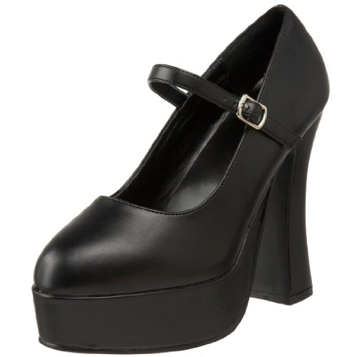 Pleaser Women's DOLLY-50/B/PU Mary Jane Pump,Black Polyurethane,10 M US ()