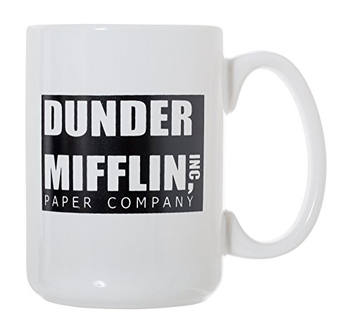 Dunder Mifflin - World's Best Boss - The Office 15 oz Deluxe Large Double-Sided Mug by Artisan Owl