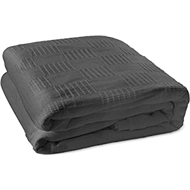 Cotton Throw Blankets (Queen/Full, Smoke Grey) Breathable Thermal Bed/Sofa Blanket Couch Quit by Utopia Bedding