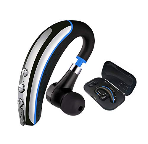 Bluetooth Headset, Aikele Wireless Bluetooth Headset V4.1, with Noise Reduction Microphone, Work for iPhone and Android smartphones, laptops.