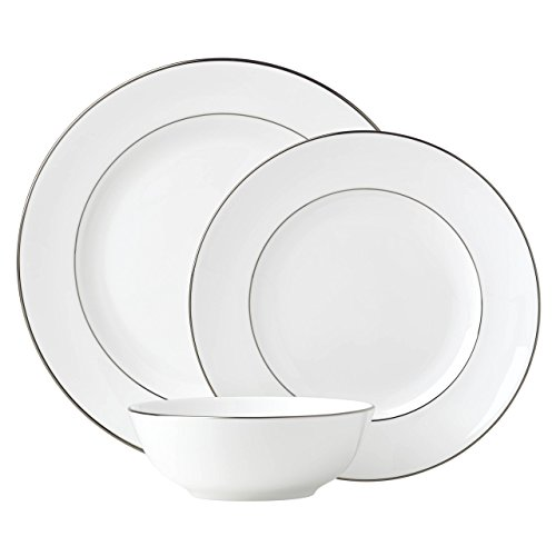 Lenox Continental Dining Platinum 3Pc Place Set, 3.70 LB, White