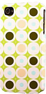 Vintage Green Circle Pattern Dimensional Case Fits Apple iPhone 5c