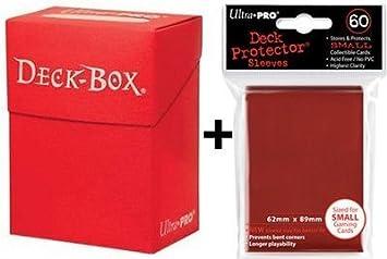 Ultra Pro Deck Box + 60 Small Size Protector Sleeves - Red - Yu-Gi-Oh! - Japanese Mini: Amazon.es: Juguetes y juegos