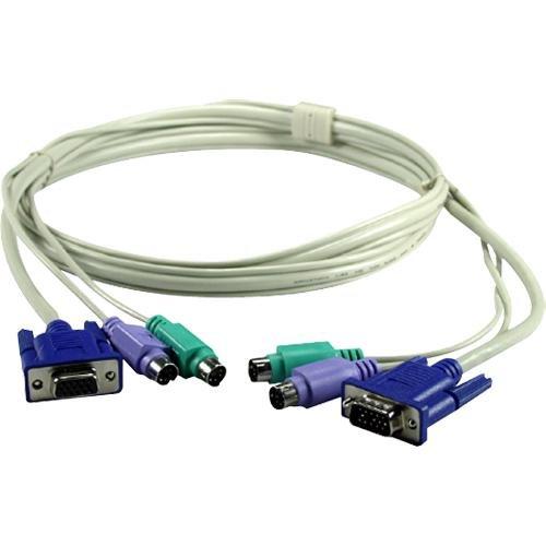 QVS C3P2A-06L Premium PS2 Combo Cable KVM Switch with - Cables Qvs Kvm