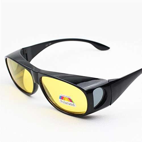EDTara Polarized Sunglasses for Men Women Cycling Running HD Lenses Wear over Prescription Glasses Night Vision Anti-sand Anti-glare Glasses UV - Glasses Prescription Running