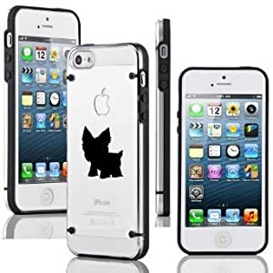 Apple iPhone 6 6s Ultra Thin Transparent Clear Hard TPU Case Cover Yorkie (Black)
