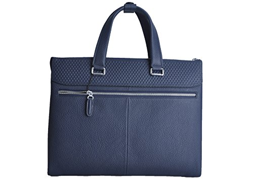 Haagendess Business Mens Bag Leather Laptop Briefcase Hand Bag (Blue) by haagendess (Image #1)