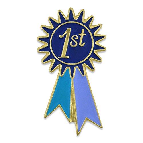 PinMart's 1st Place Prize Blue Ribbon Enamel Lapel Pin