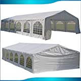 DELTA Canopies Budget PE Party Tent Canopy Shelter White - 40'x20'