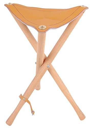 Alvin, Heritage Arts, WS02, Leather Seat Wood Stool, Foldable – 200 lbs Weight Capacity