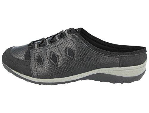 piel talla de Walk con de Zapatillas mujer cierre de 36 cremallera 41 Black Cushion Mule a SwXpqv
