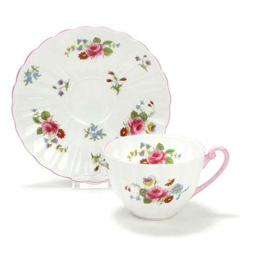 Shelley China Cup (Rose & Red Daisy by Shelley, China Cup & Saucer)