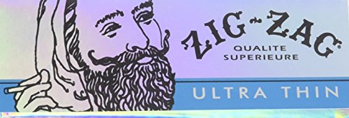 Zig Zag Ultra Thin Cigarette Rolling Papers, 1 1/4 Size (24 Booklets Retailers Box)