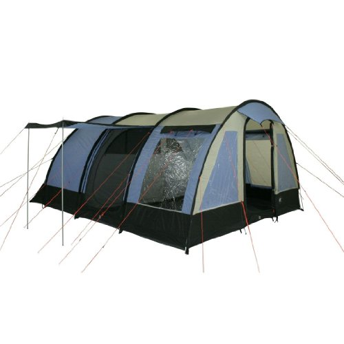 10T Lexington 6 - 6-person tunnel tent with panoramic window vestibule + interior compartment, WS=3000 mm
