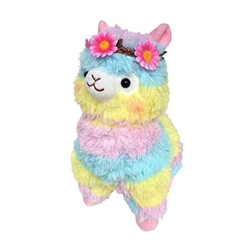 Sunny World Pink Flowers Colored Ribbon Alpaca Llama Toy -17.7