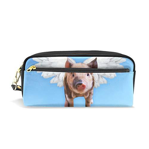 Pen Pencil Case Pouch Case PU Leather Chien Animal Mignonne Makeup Cosmetic Travel School ()