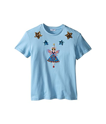 Dolce & Gabbana Kids Girls' City Short Sleeve T-Shirt, Light Blue Print, 10 Big Kids by Dolce & Gabbana