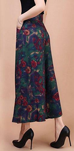 Yanyan - Pantalón - para mujer Green+Red Printing