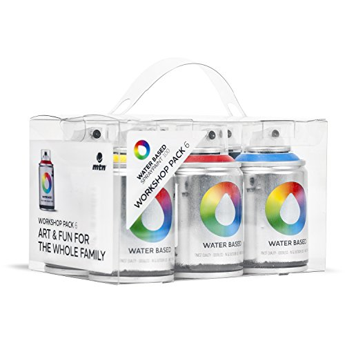MTN Colors - Water Based Spray Paint Workshop Pack - 6 x 100