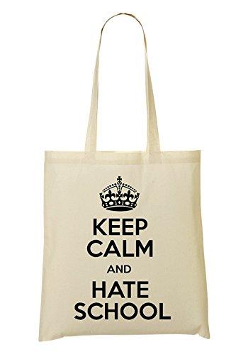 Keep Calm And Hate School Bolso De Mano Bolsa De La Compra