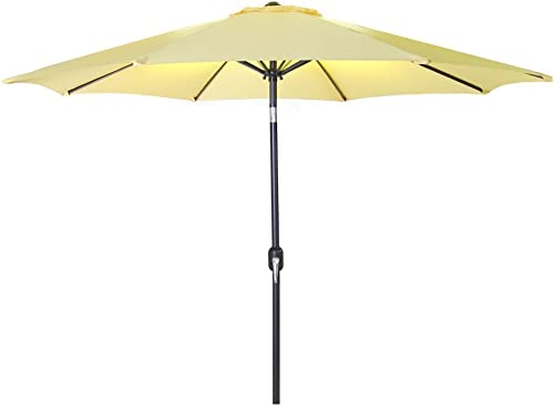 9 Steel Market Umbrella in Canary –