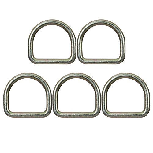 Fusion Climb Moc 2.5'' Drop Forged Heavy Duty Carbon Steel D-Ring Gold for 2'' Webbing 5-Pack by Fusion Climb