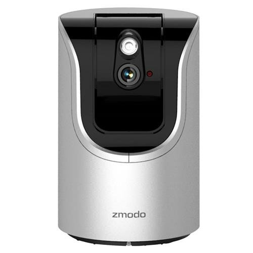 Zmodo ZH-IZV15-WAC Smart Pan Tilt WiFi Camera with 360-degree Monitoring, Two-Way Audio, IR Night Vision, microSD Card Supported and Smart Motion Alerts by Zmodo