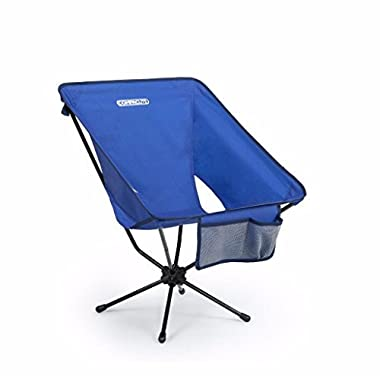 Compaclite Oversize Steel Camping Portable Chair for Outdoor Camping / Picnic / Hiking  / Bicycling / Fishing / BBQ / Beach / Patio with Carry Bag, Royal Blue