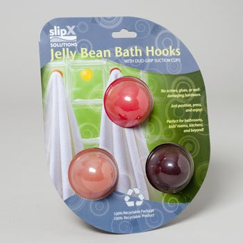 JELLY BEAN BATH HOOK-ROSES 3PK, Case Pack of 4, Case Pack of