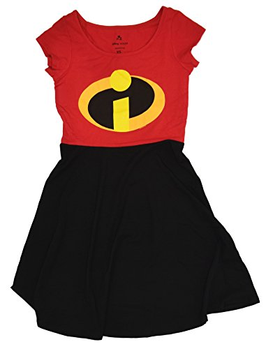 Disney Pixar Mrs. Incredible Costume Skater Dress (Large, Red) - The Incredibles Costume Lady