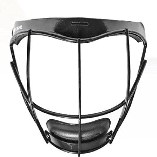 All Star Vela Pitcher Infielder Fastpitch Protection Mask (Black) (Pitchers Mask)