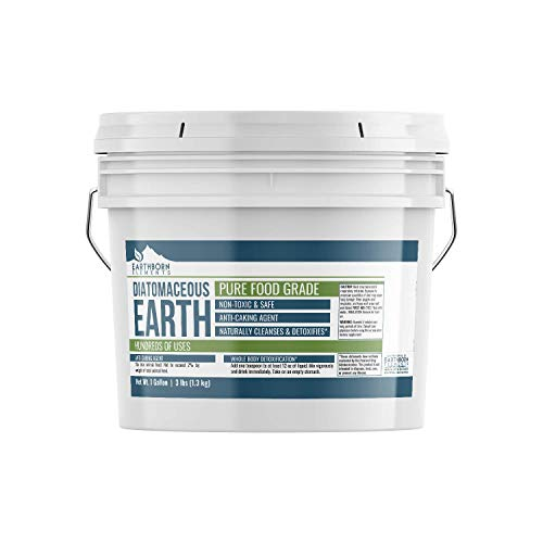 Diatomaceous Earth (1 Gallon) by Earthborn Elements, Resealable Bucket, Highest Quality, FCC...