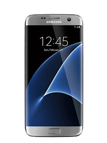 Samsung Galaxy S7 Edge unlocked smartphone, 32 GB Silver (US Warranty - Model SM-G935UZSAXAA) (Renewed)