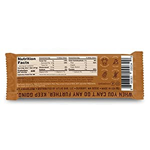 Atlas Bar - Real Protein Bar Vanilla Almond 205 Ounce 12-pack Grass Fed Whey Low Sugar All Natural Gluten Free Soy Free And Gmo Free by Atlas Bar