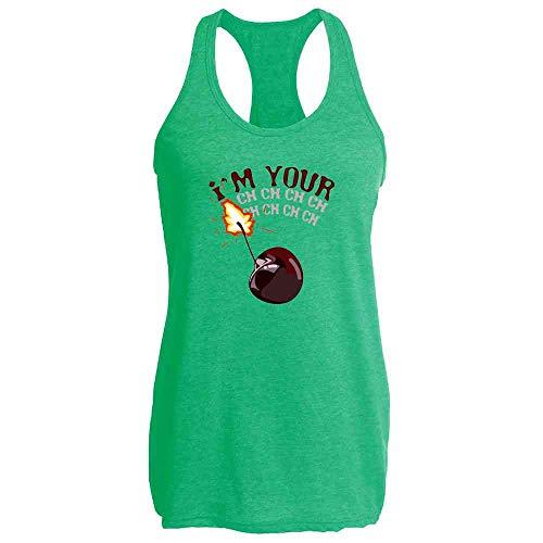 Pop Threads I'm Your Cherry Bomb Heather Kelly XL Womens Tank Top
