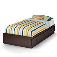 South Shore Zach Storage Bed, Twin, Chocolate
