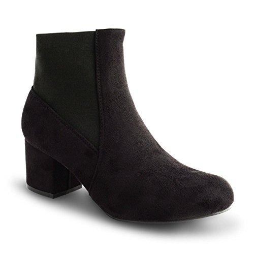 Footwear Sensation - Botas Chelsea mujer Black Suede